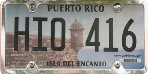 License Plate 2411 Puerto Rico