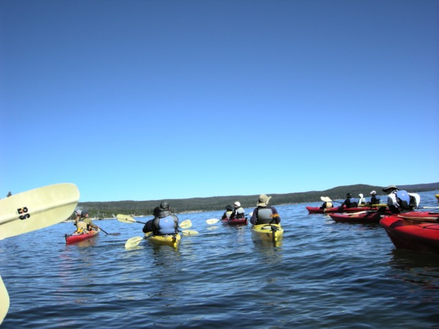 Kayaking on Yellowstone Lake