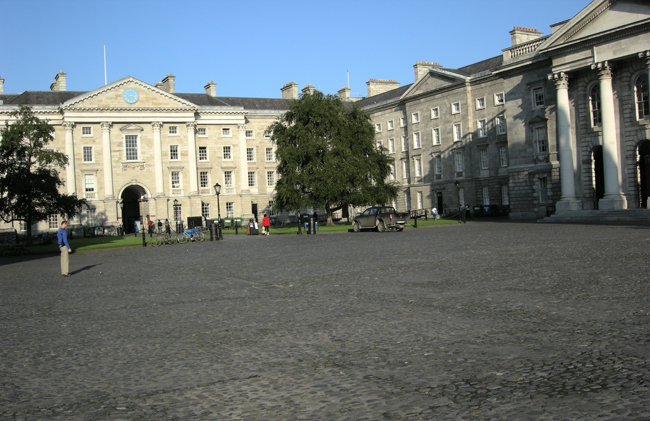 Trinity College houses the Book of Kells