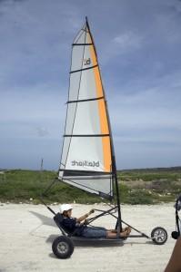 Wind sailers take a ride