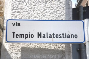 395.24 Street sign Malatestiano