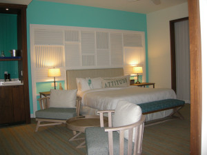 A tropical room at Margaritaville Hollywood Beach Resort