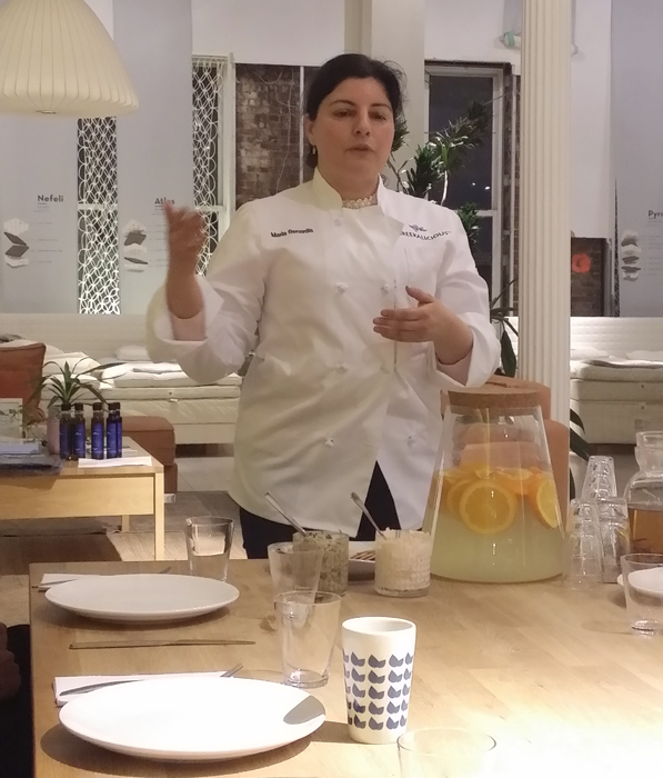 Maria Benardis Intuitive Greek cooking class